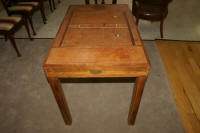 antique mahogany inlaid backgammon table