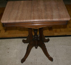Eastlake walnut rectangular parlor table