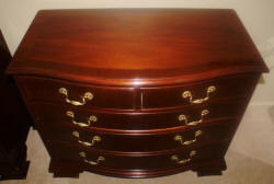 matched pair of Baker Furniture mahogany bachelor chests