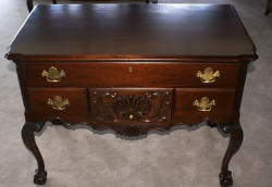 Craftique soild mahogany Chippendale low boy