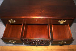Craftique solid mahogany Chippendale low boy