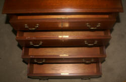 Biggs Furniture solid mahogany petite bachelor chest