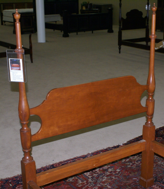 Matched Pair Of Solid Cherry Virginia Craftsman Twin