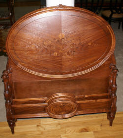 Pair of  solid mahogany antique cabinet Craftique twin beds