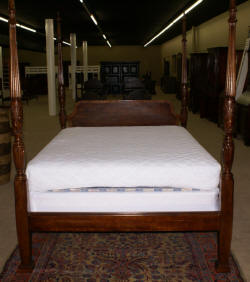 modern banded inlaid mahogany queen size rice bed