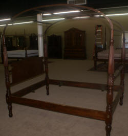 Early 1800s solid mahogany full size canopy or rice bed