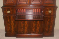 Flame mahogany breakfront secretary desk