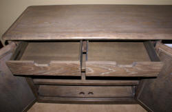 bernhardt belgian oak entertainment console bn337-860m