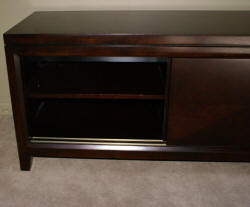 dark mahogany bow front buffet