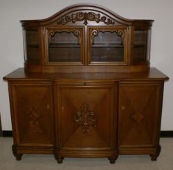 Solid oak German antique carved buffet