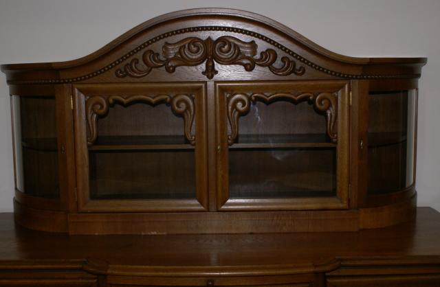 Solid Oak Antique German Carved Buffet