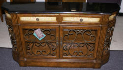 Fancher banded inlaid mahogany buffet