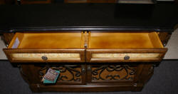Pulaski Furniture Company marble top /wrought iron credenza