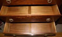 Walnut antique flower inlaid chest of drawers circa 1930s