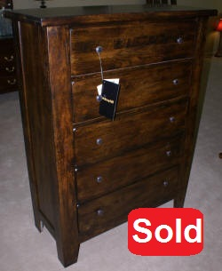 Broyhill dark oak high chest