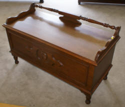 walnut 1930s antique cedar chest