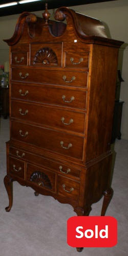 century furniture company mahogany queen anne highboy