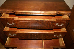 Walnut French carved antique chest