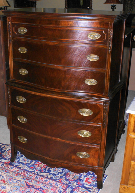 Mahogany Antique Chest On Chest