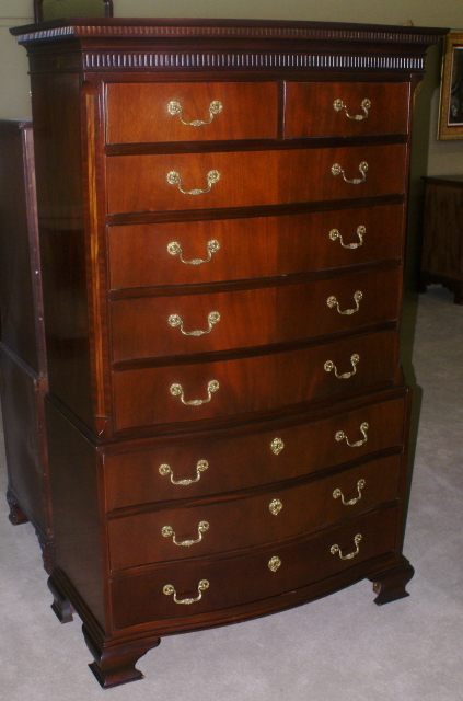 Baker Furniture Company Banded Inlaid Tall Chest