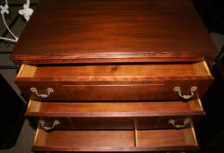 Chippendale ball and claw foot mahogany chest