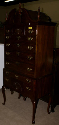 council craftsman solid mahogany highboy