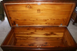 Lane Chippendale mahogany ball and claw cedar chest