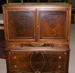 walnut antique gentlmens chest