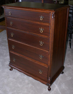 Queen Anne mahogany chest of drawers