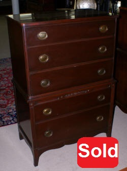 mahogany high chest