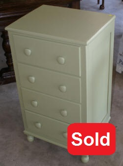 painted 4 drawer chest