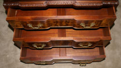Irwin Furniture company flame mahogany high chest