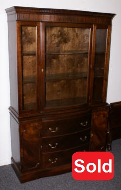 bow front mahogany china cabinet