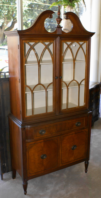 Walnut Two Door China Cabinet