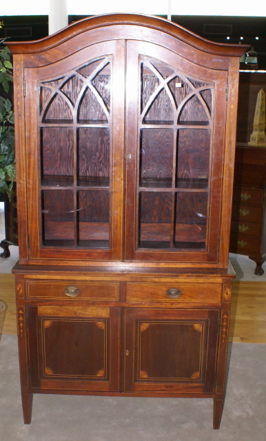 Mahogany Inlaid Antique China Cabinet Mahogany Inlaid Antique China Cabinet