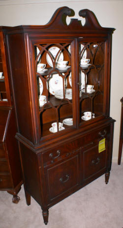 antique mahogany china cabinet