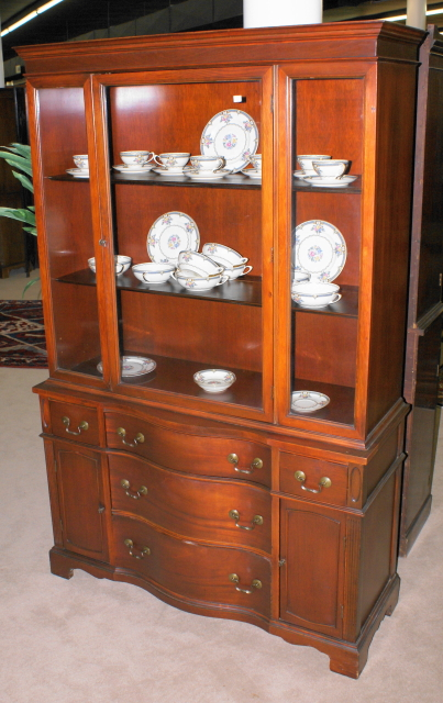 Antique Mahogany China Cabinet ...