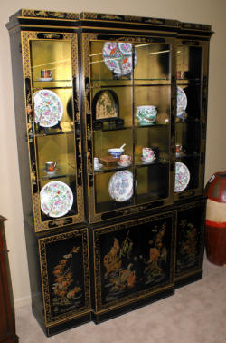 asian drexel china cabinet