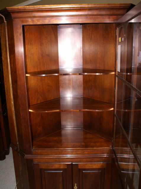 20 Corner Cabinets To Make A Clutter Free Bathroom Space: Statton Furniture Solid Cherry Corner Cabinet