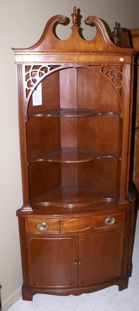 Mahogany 1940s Corner Cabinet 15 ...