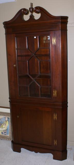 Solid Mahogany Craftique Corner Cabinet