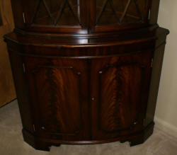 Mahogany custom made corner cabinet