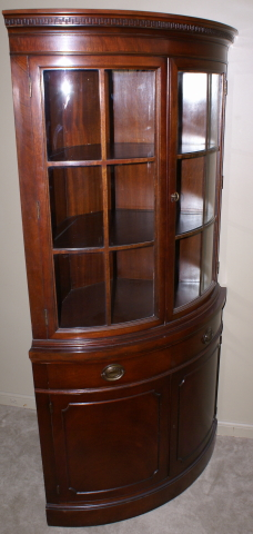 Drexel Travis Court Collection Mahogany Bow Front Corner