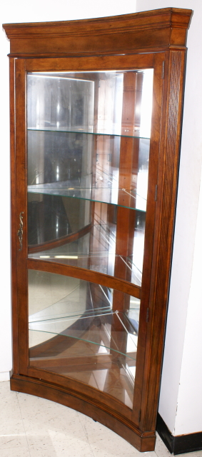 Exceptionnel Concave Glass Front Mahogany Corner Curio Cabinet / Display Cabinet By  Pulaski Furniture
