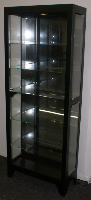 Black Onyx Side Door Curio Cabinet Display Cabinet By