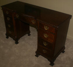 solid mahogany kneehole desk