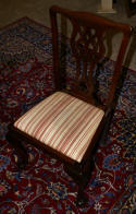 antique chippendale mahogany dining room chairs