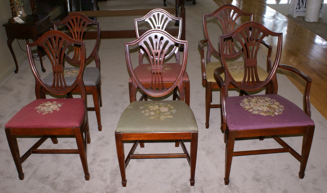 set of six sheild back dining room chairs set of six shield ... - Set Of Six Shield Back Mahogany Dining Room Chairs