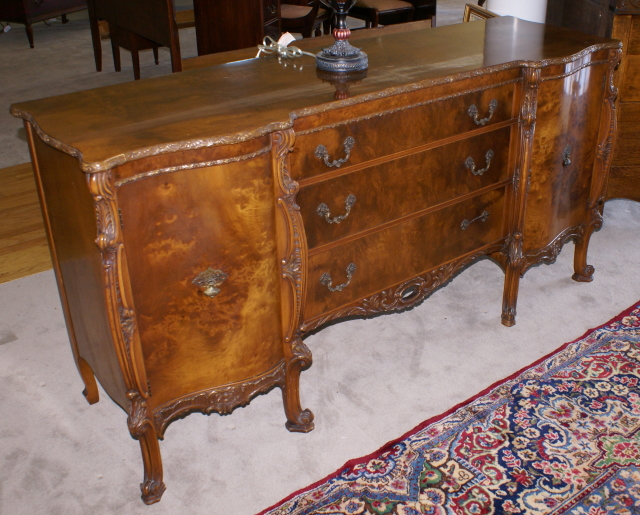 Signed Batesville walnut dining room suite. Antique dining room furniture   Mahogany Dining Room Furniture