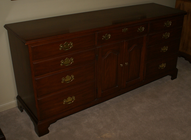 Harris solid wild black cherry dresser finish #